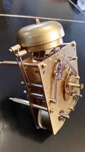 Mouvement mécanique vue sur les leviers de la sonnerie